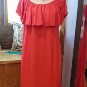 LuLaRoe Red CiCi Dress -  2XL